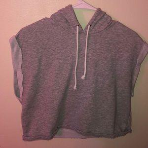 A crop top hoodie